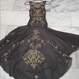 Johnny Was Biya Mesh Embroidered Dress
